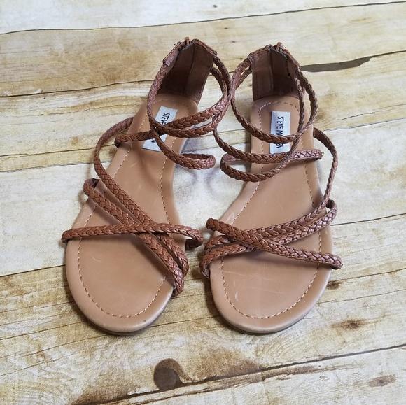 0f0ede79168 Steve Madden Strappy Braided Gladiator Sandals